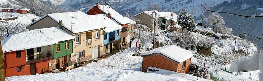 El Vallín nevado, pueblo en el concejo de Morcín