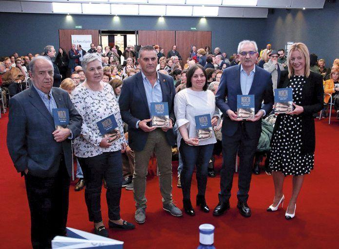 Pedro Rodrígrez (izda.), Montse García, Mino García, María Perera, Fernando Delgado y Noelia Pereira