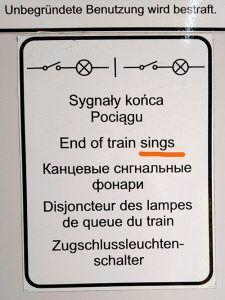 """""""Tren cantante"""""""