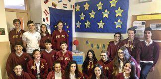Estudiantes del Colegio Santo Domingo de Navia