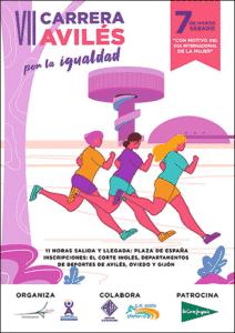 Cartel de la carrera Avilés por la Igualdad