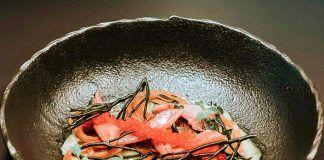 Sunomono de Sardina Ahumada. Lara Rodríguez, Restaurante Kraken Art Food (Gijón)
