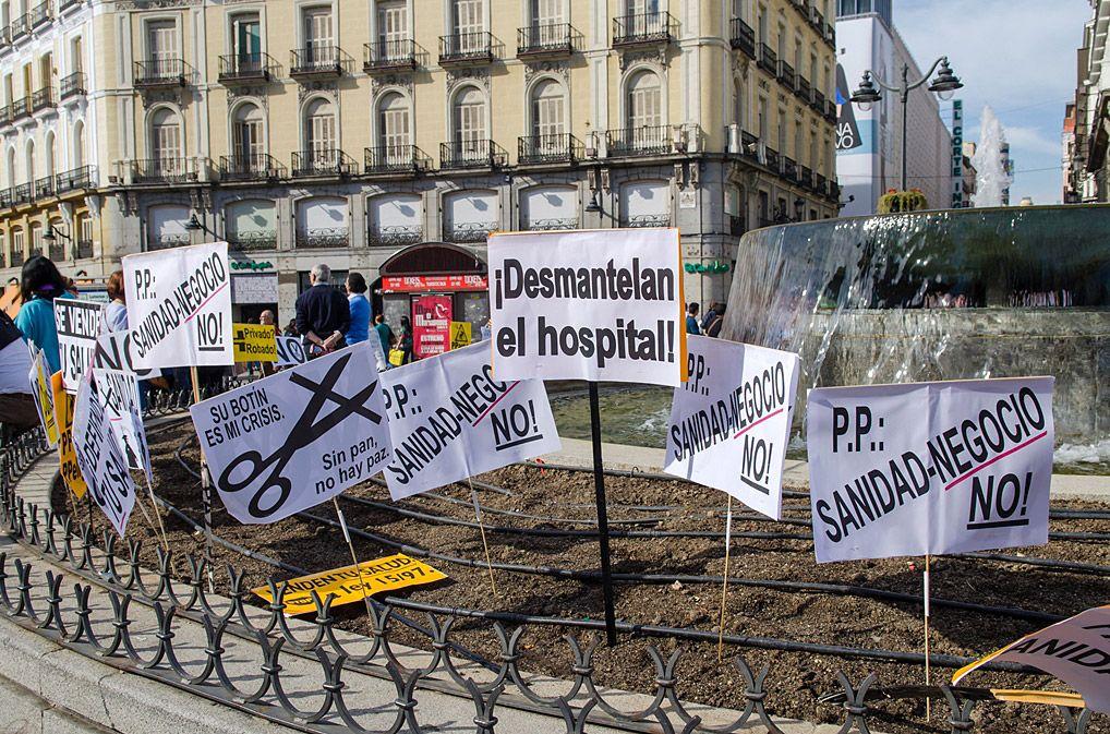 Manifestacion en Madrid en defensa de la sanidad pública