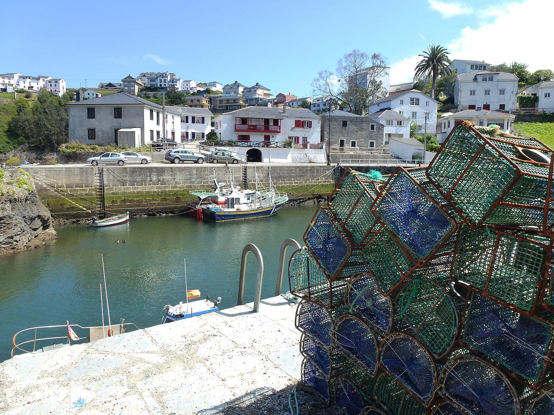 Nasas de pesca en Viavélez (El Franco) / Foto: Fusión Asturias