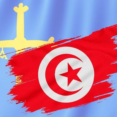 Bandera de Túnez y Asturias
