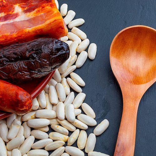Ingredientes de la fabada asturiana