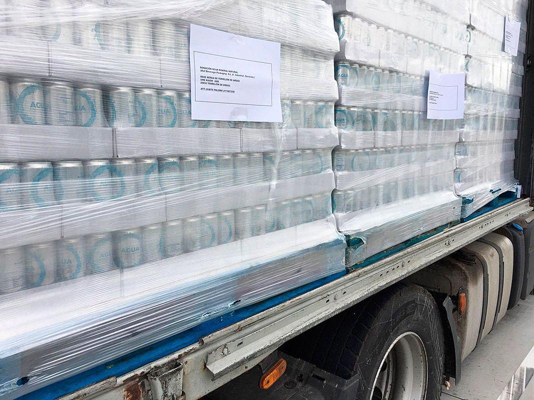 Agua mineral Galea para la UME