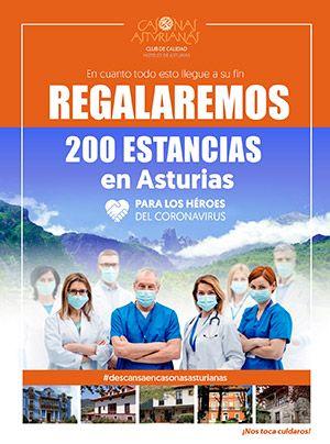 Cartel de Casonas Asturianas. Regalan 200 estancias para los héroes del coronavirus
