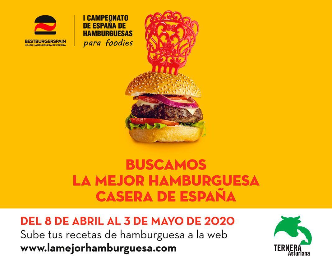 Cartel concurso La Mejor Hamburguesa Casera de España