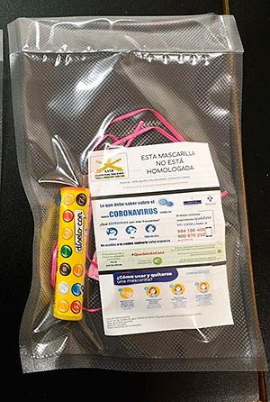 Mascarillas caseras infantiles con regalo incluido, elaboradas por Asociación Vecinal Trubia se Mueve