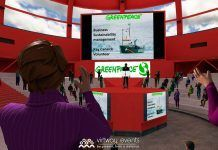 Muestra de reunión virtual creada por Virtway