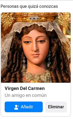 ¡La Virgen!