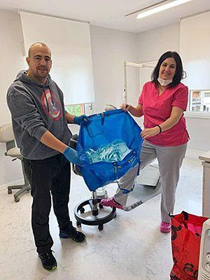 Voluntarios de  Riosa para la lucha contra el coronavirus