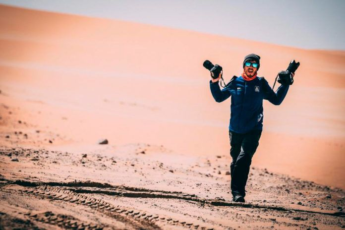 Charly López, fotógrafo del Dakar