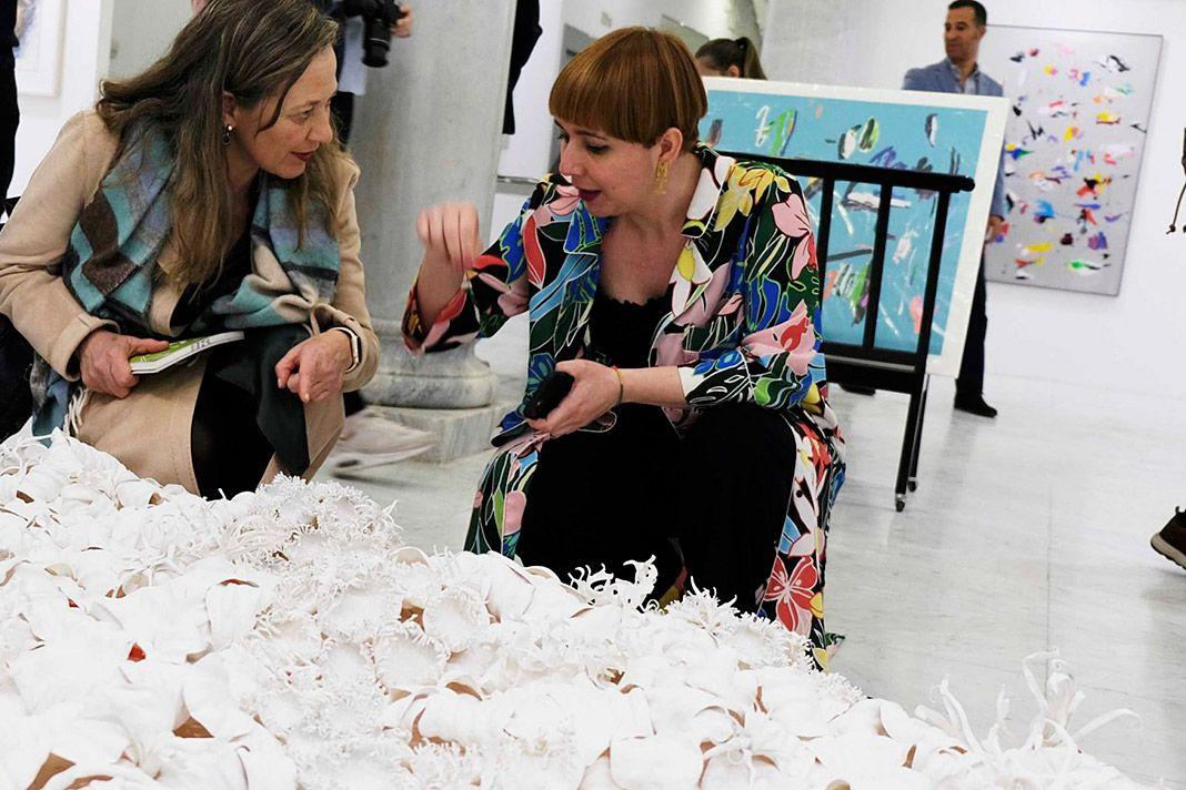 Semíramis González en la última edición de JUSTMAD charlando con Victoria Rosell, delegada del Gobierno contra la Violencia de Género