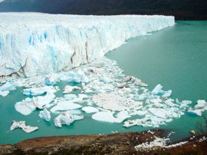 Efectos del cambio climático en un glaciar