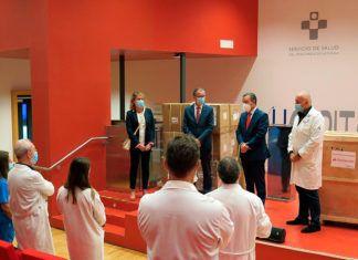 Donación de material sanitario del Banco Santander al HUCA