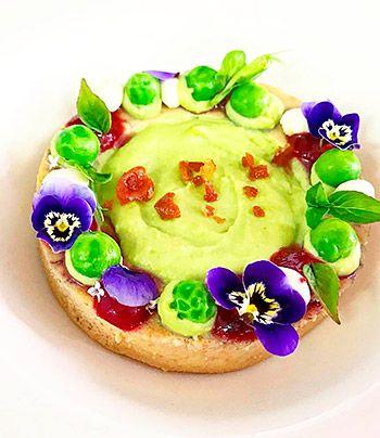 Plato elaborado en el Restaurante Kraken Art Food