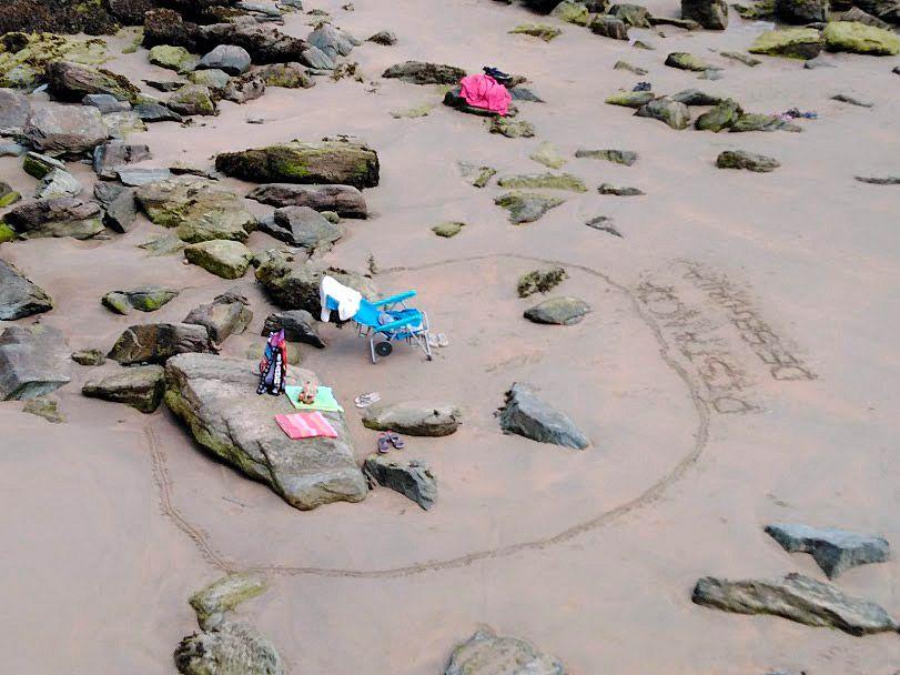 Distancia de seguridad en la Playa de Aguilar