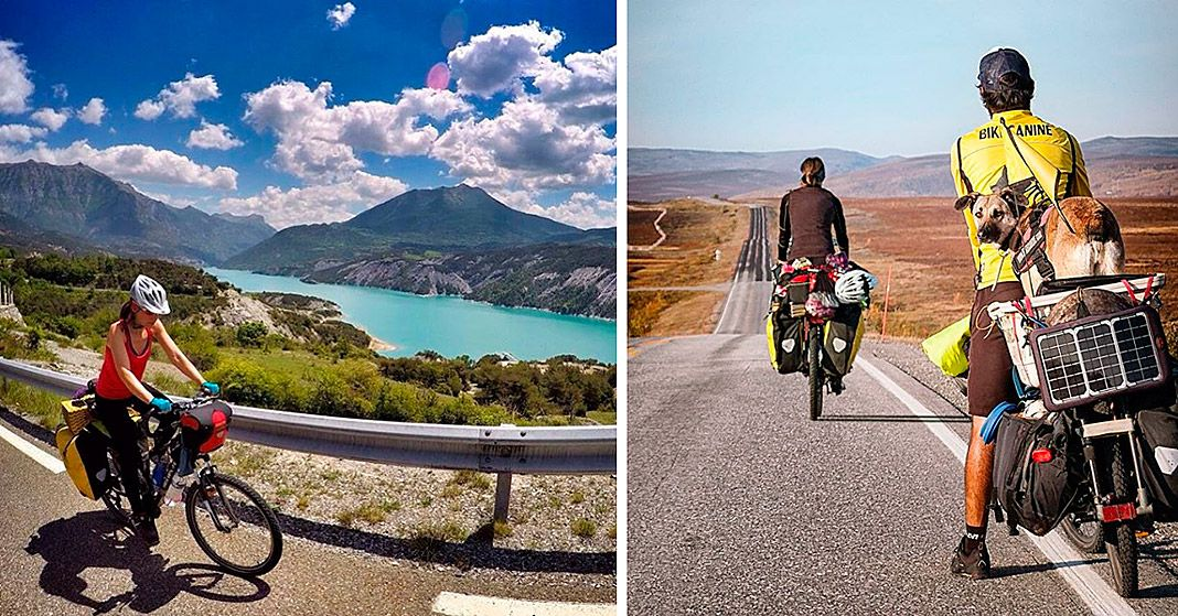 Expedicion Cabo Norte. Anina Anyway, Pablo Calvo y Hippie (Bikecanine)