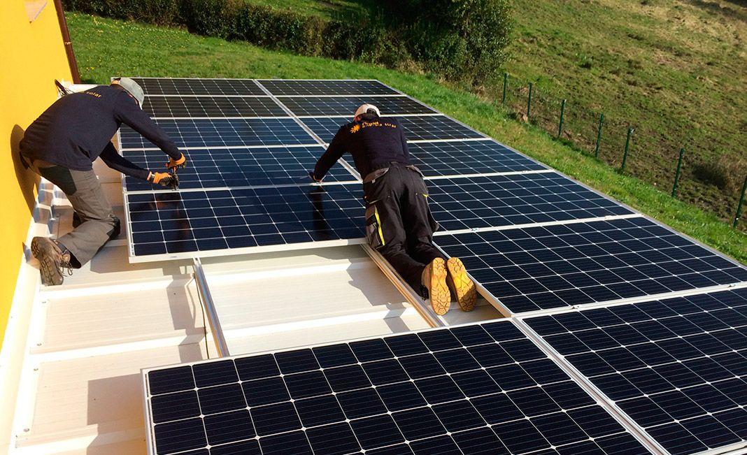 Instalación solar realizada por Fusión Energía Solar