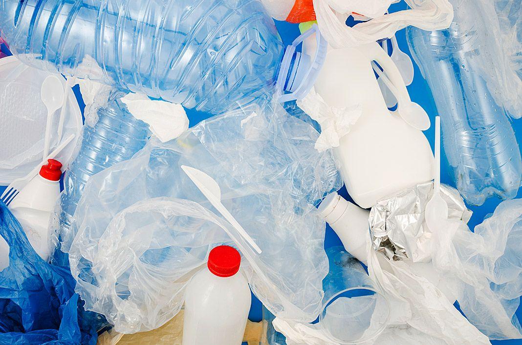 Residuos plásticos desechables