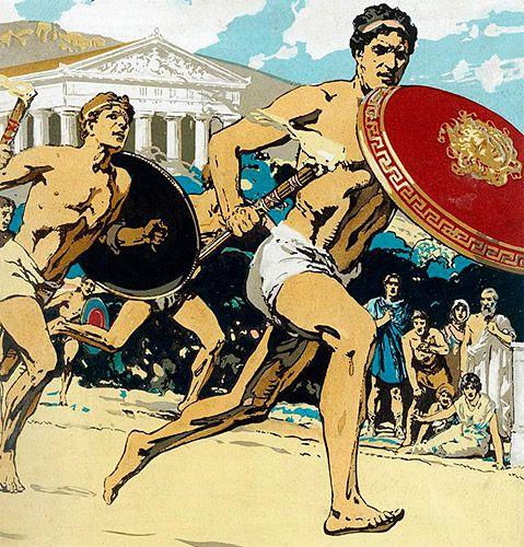 Las lampadedromías eran carreras de antorchas incluídas en algunos programas festivos de la Antigua Grecia.