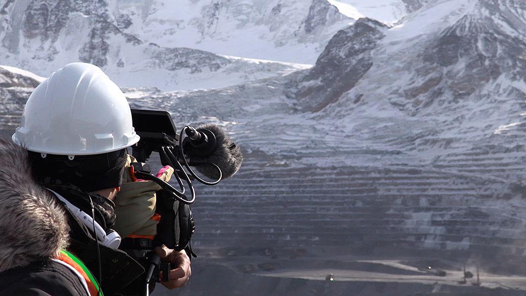 David Rodríguez en la mina Kumtor (Kirguistán)