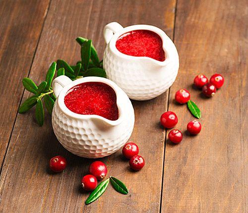 Salsa de arándanos rojos