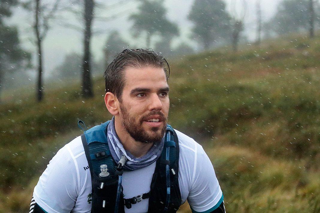 Participante en el I Trail Los Vientos de Penausén (Salas). Octubre 2020