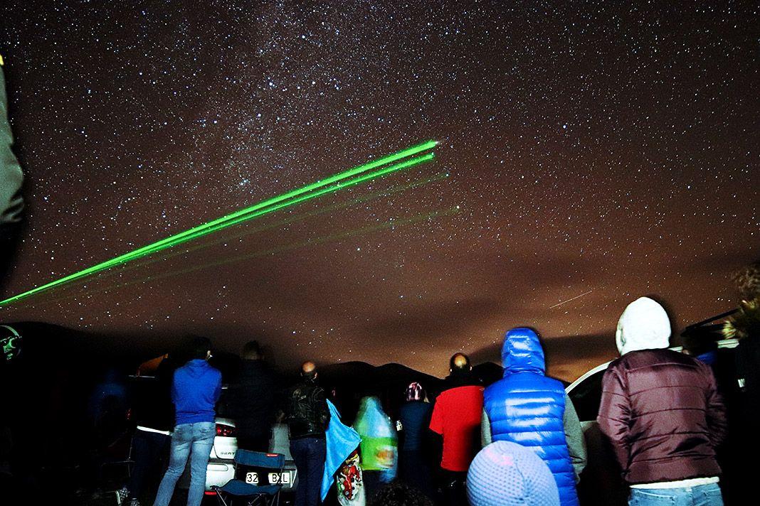 Actividad nocturna del Proyecto Allande Stars