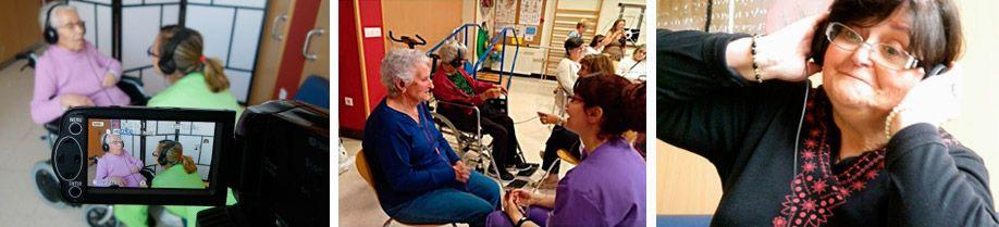 Sesiones de musicoterapia en el centro de día de La Camocha (Gijón)