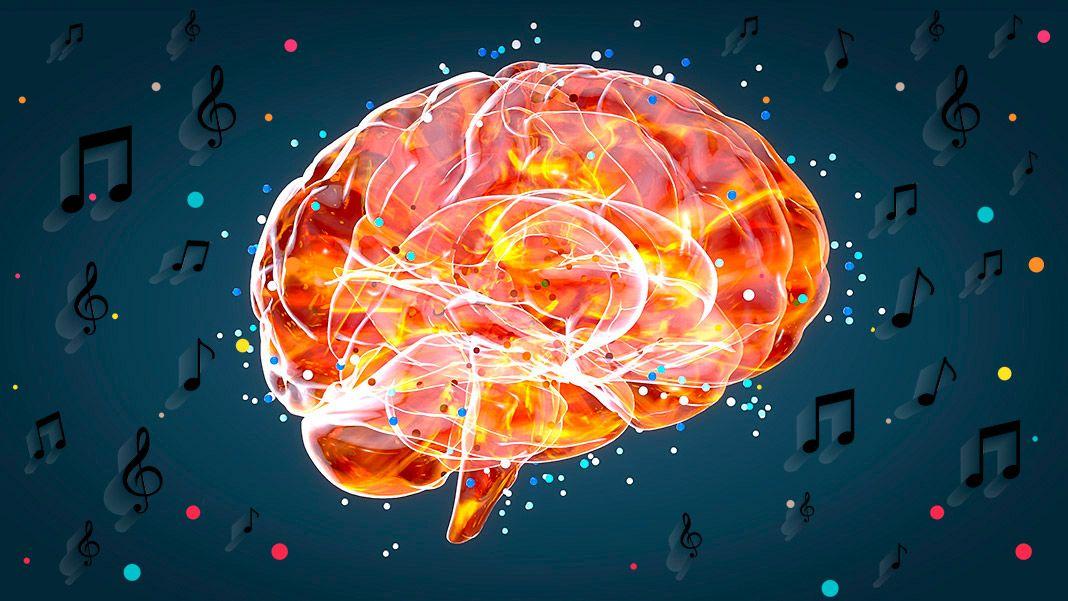Cerebro con música