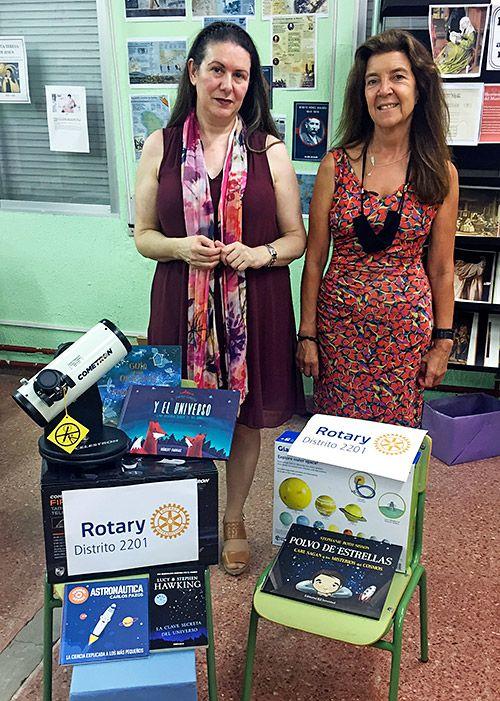 Material donado al colegio de Allande por el Club Rotary Internacional