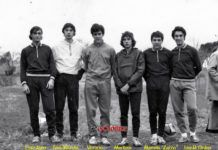Equipo de atletismo de Sama de Langreo. 1970