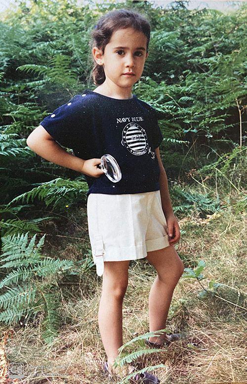 Lucía González Cuesta, astrofísica asturiana, cuando era pequeña
