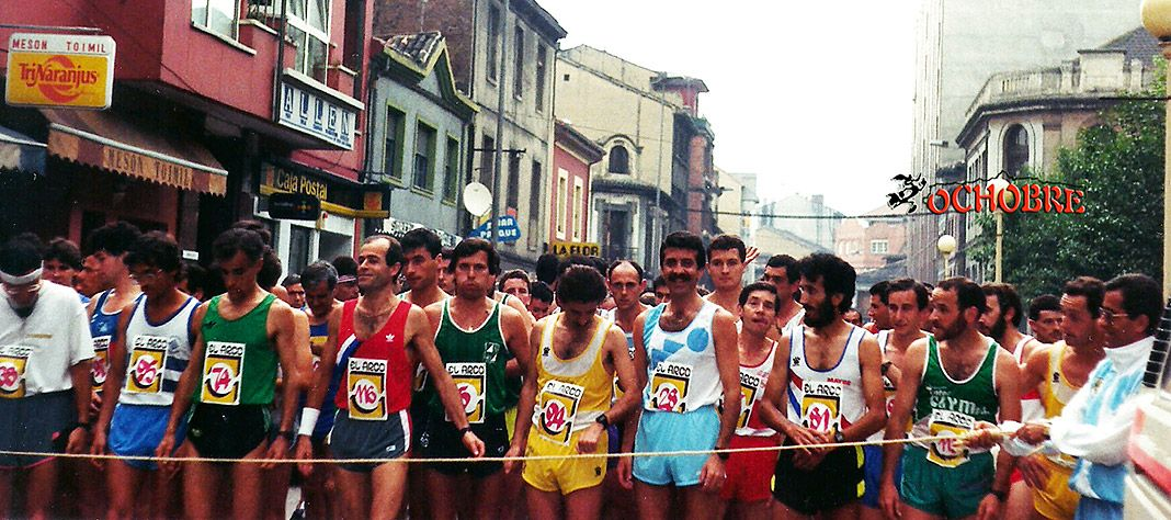 Media maratón. Langreo, 1988