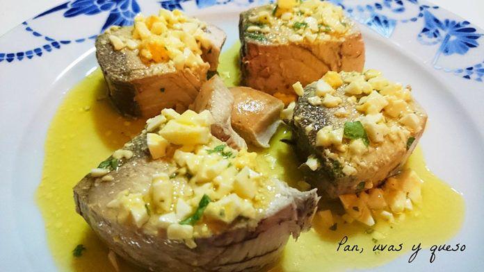 Bonito asturiano a la vinagreta, del blog Pan, uvas y queso
