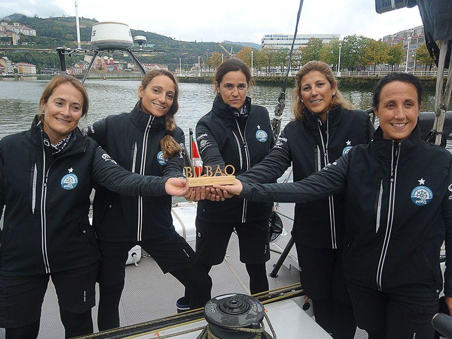Las 5 mujeres participantes en el Reto Pelayo Vida. Vuelta a España a Vela 2020