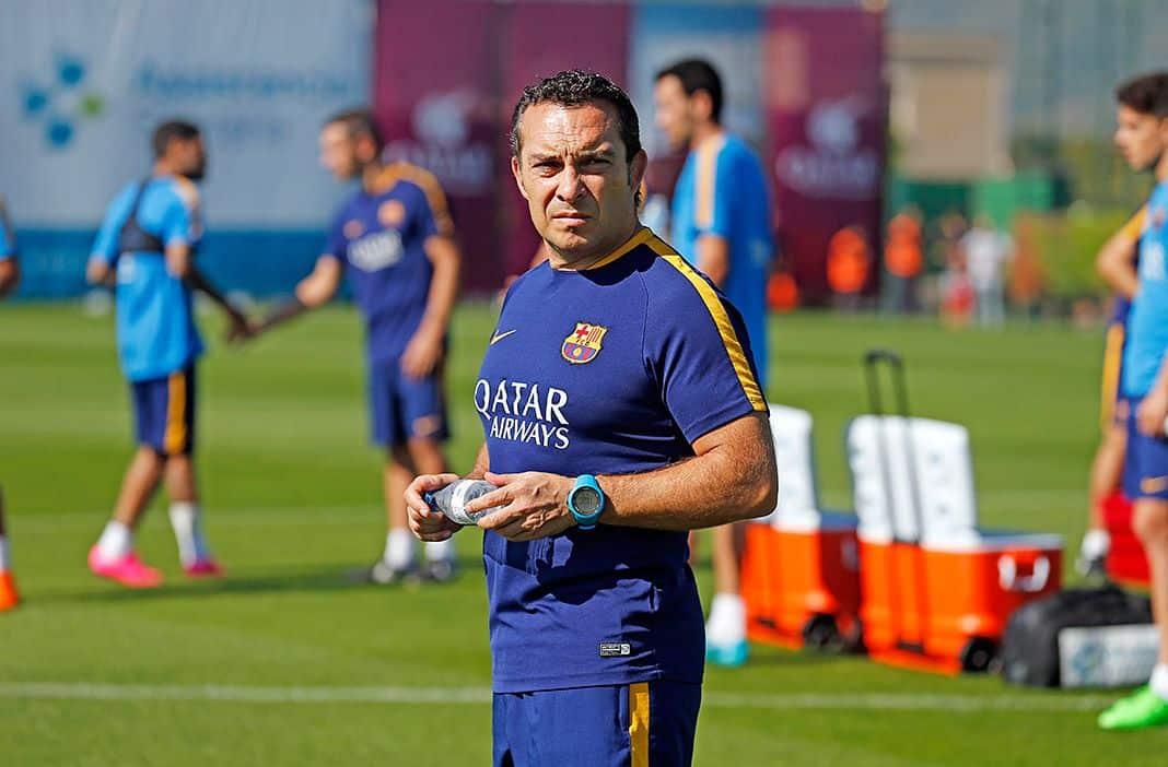 Joaquín Valdés, psicólogo deportivo, en su etapa con el F.C. Barcelona