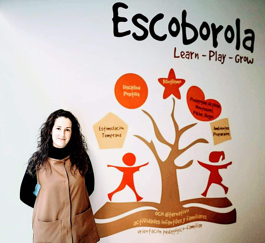 Laura Miguel, pedagoga. Escoborola, educación alternativa