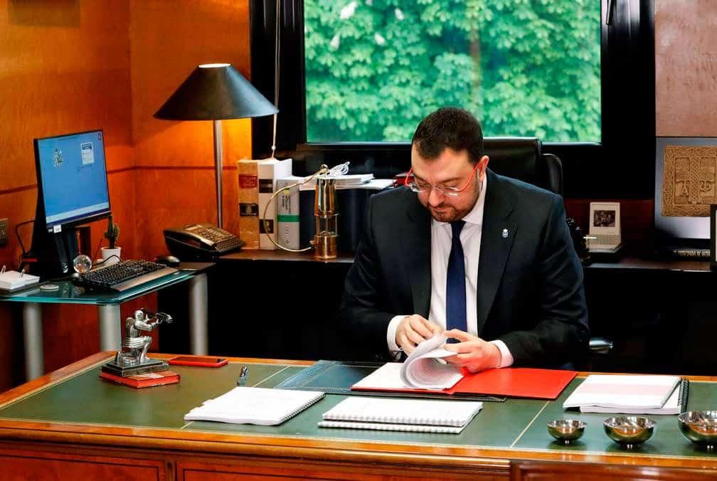 Adrián Barbón, presidente del Principado de Asturias