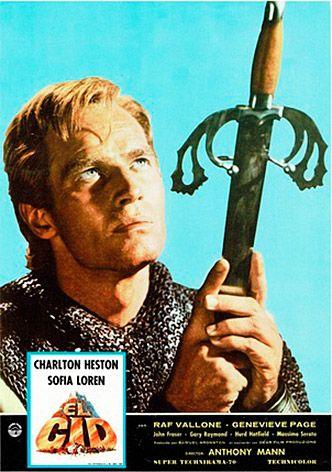 El Cid, de Charlton Heston y Sofía Loren