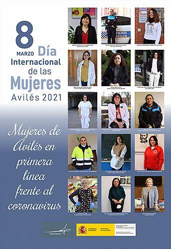 Cartel del documental 'Mujeres de Avilés en primera línea frente al coronavirus'