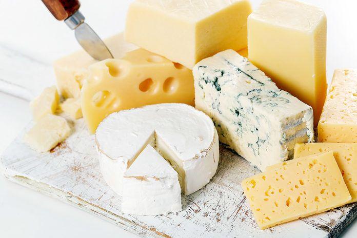 Distintas variedes de quesos