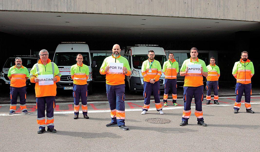 Equipo de ambulancias de Transinsa