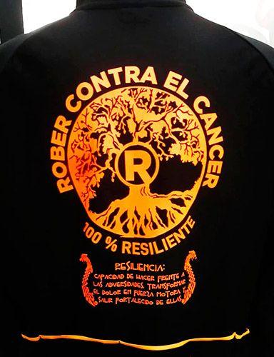Diseño de la camiseta de la campaña Rober contra el cáncer