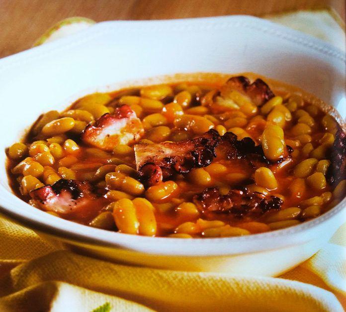 Verdinas con pulpo, receta de Juanjo Cima