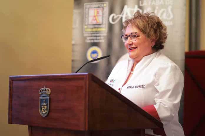 Amada Álvarez Pico, presidenta del Club de Guisanderas de Asturias