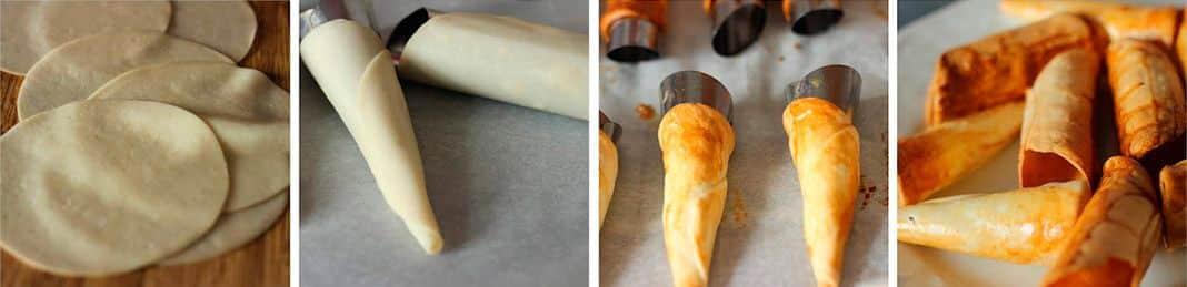 Elaboración de los conos de queso La Peral